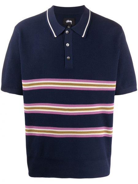 Koszula krótkie z krótkim rękawem klasyczna w paski Stussy