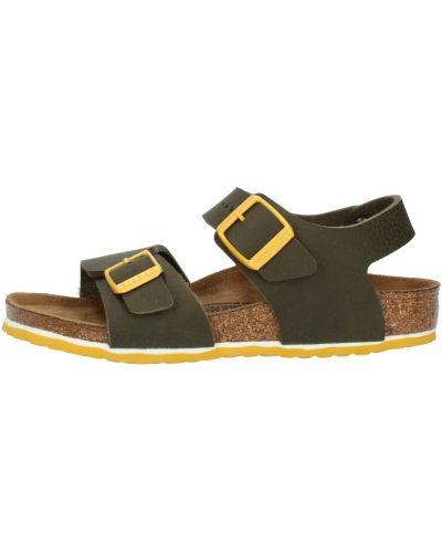 Brokatowe sandały - zielone Birkenstock