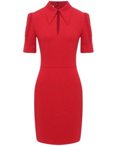Красное платье из вискозы Stella Mccartney