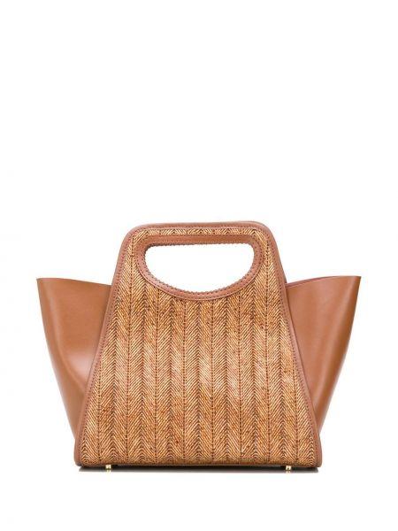 Кожаная сумка соломенная сумка-тоут Elleme