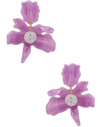 Фиолетовые серьги-гвоздики Lele Sadoughi