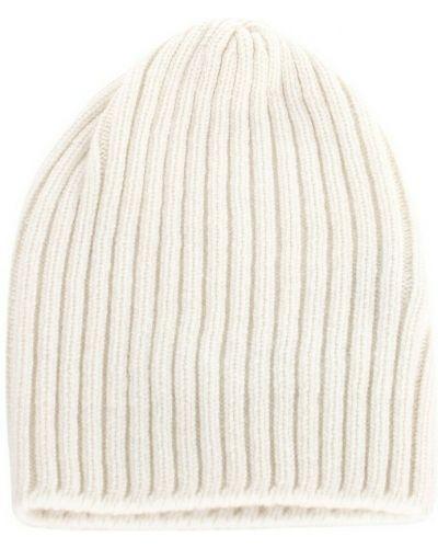 Biała czapka beanie Fedeli