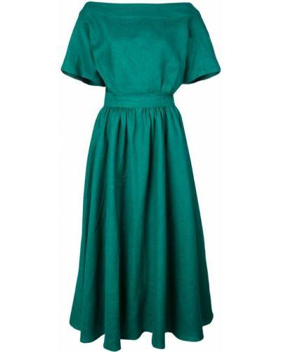 Приталенное расклешенное платье миди Tome
