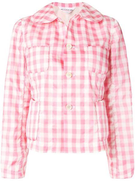 Розовый приталенный короткая куртка с накладными карманами Comme Des Garçons Girl