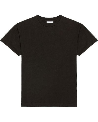 Światło bawełna bawełna czarny t-shirt John Elliott