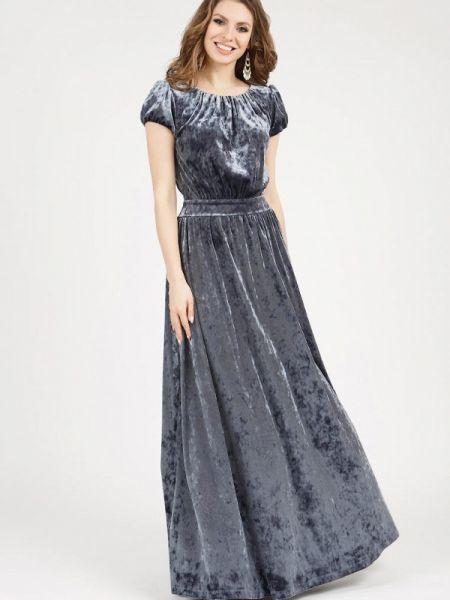 Вечернее платье серое осеннее Olivegrey