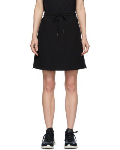Махровая с кулиской черная юбка мини Mcq Alexander Mcqueen
