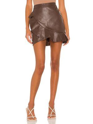 Brązowa spódnica bawełniana Majorelle