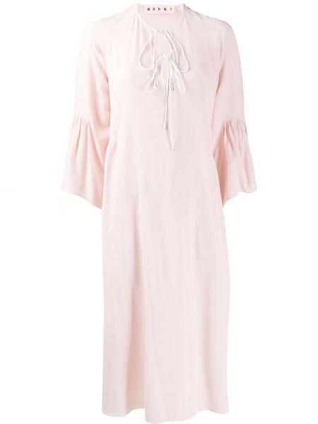 Платье миди с рукавами свободного кроя Marni