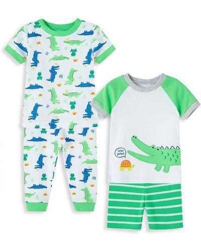 Zielona piżama bawełniana krótki rękaw Little Me