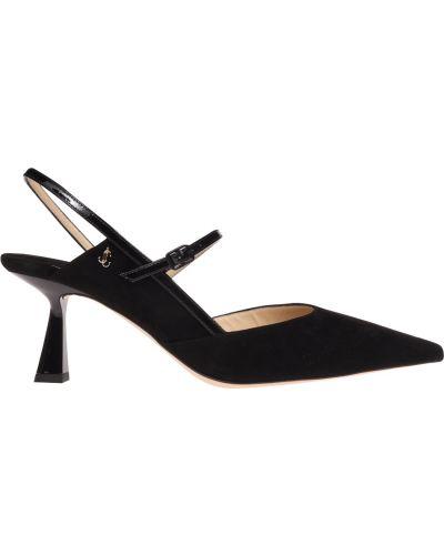 Czarne sandały z paskiem Jimmy Choo