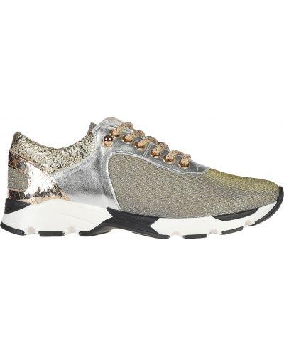 Кожаные кроссовки - золотые Helena Soretti