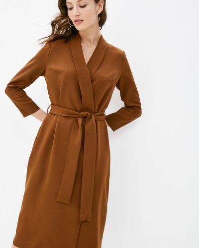 Коричневое платье с запахом Trendyangel