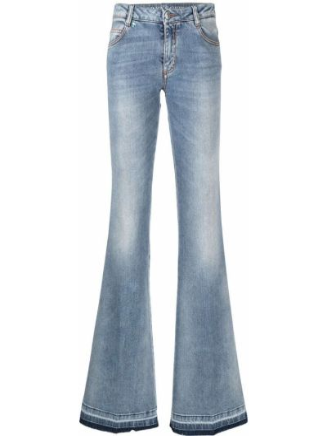 Расклешенные синие джинсы с низкой посадкой Ermanno Scervino
