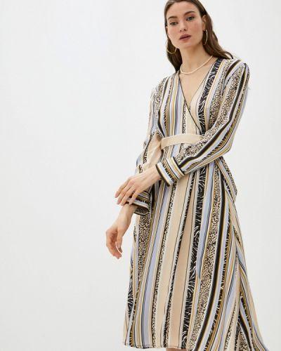 Бежевое платье с запахом Replay