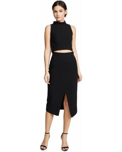 Черное платье без рукавов с подкладкой Black Halo