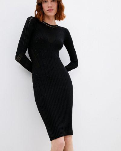 Трикотажное черное платье Roberto Cavalli