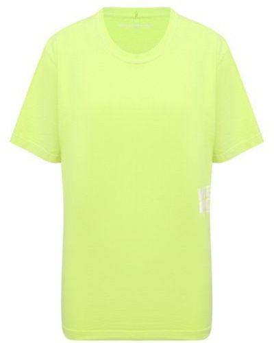Зеленая хлопковая футболка Alexanderwang.t