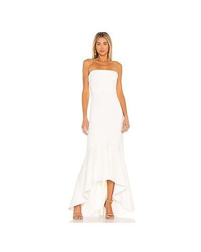 Шелковое белое вечернее платье с подкладкой Likely