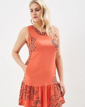 Платье розовое прямое Louitex