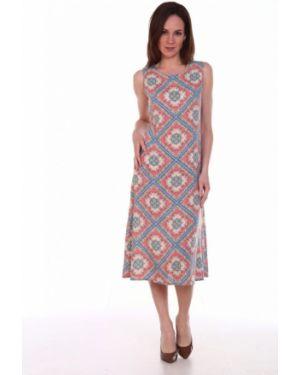 Платье из штапеля с узором инсантрик