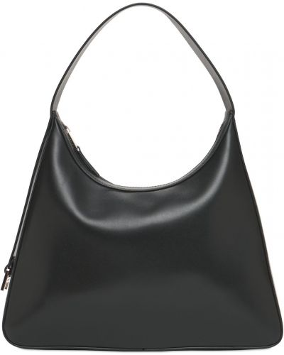 Czarna torba na ramię skórzana Ambush