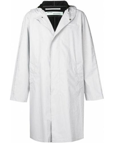 Płaszcz przeciwdeszczowy z długimi rękawami z kapturem od płaszcza przeciwdeszczowego Off-white