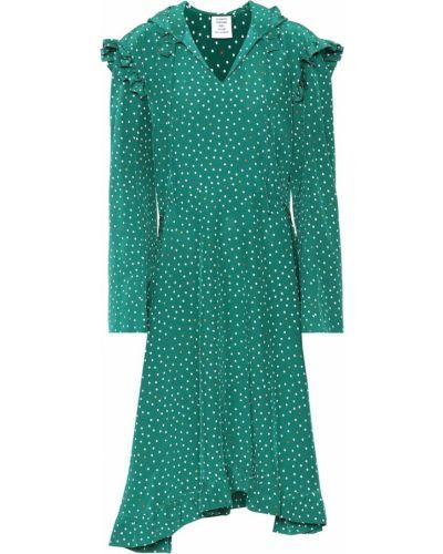 Платье в горошек шелковое Vetements