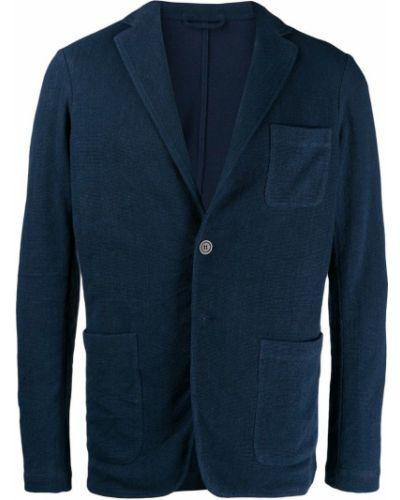 Длинная куртка льняная темно-синяя Altea