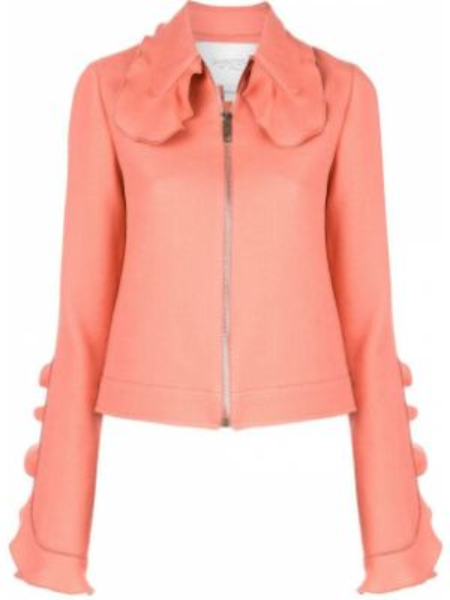 Шерстяной розовый приталенный пиджак Giambattista Valli