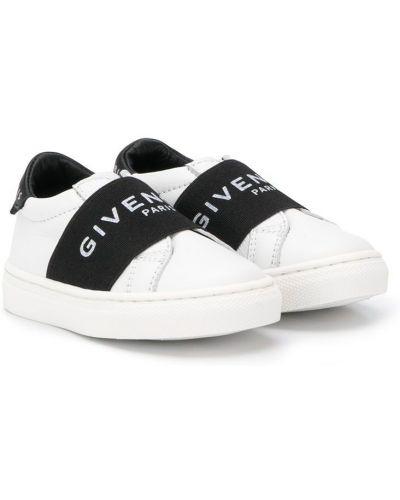 Slipony z nadrukiem skórzany Givenchy Kids
