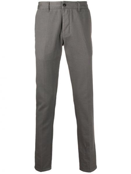 Spodnie bawełniane z paskiem zapinane na guziki Ami