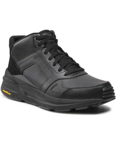 Sneakersy wysokie - czarne Skechers