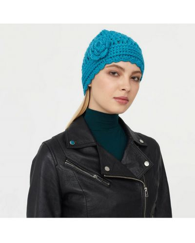 Голубая шапка шерстяная Sabellino