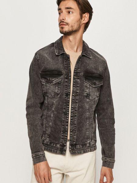 Хлопковая серая с рукавами джинсовая куртка Only & Sons