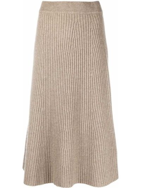 Кашемировая юбка в рубчик Chinti & Parker
