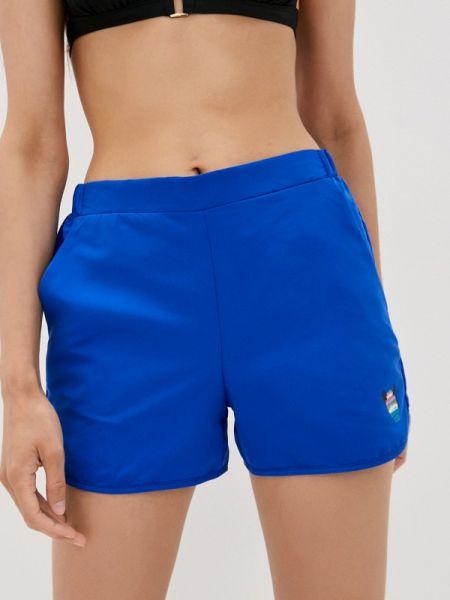 Синий купальник с шортами Defacto