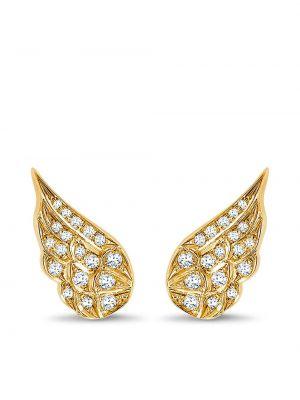 Золотистая диадема золотая с бриллиантом Pragnell