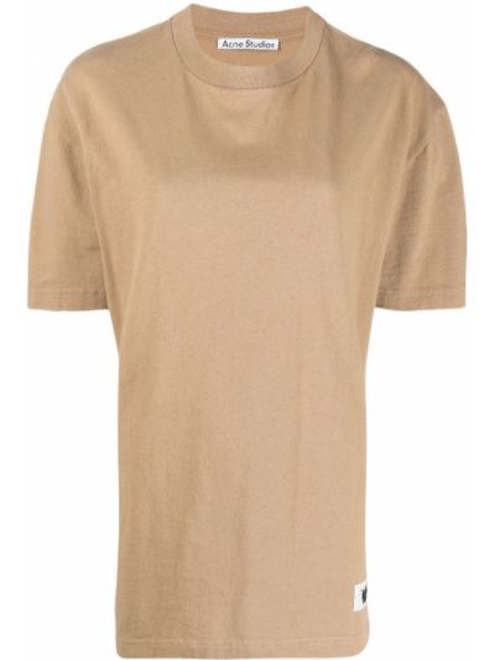 Хлопковая рубашка с короткими рукавами круглая Acne Studios