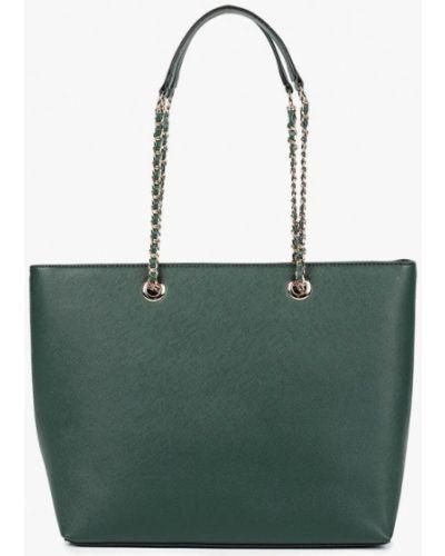 Кожаный сумка с ручками зеленый Dorothy Perkins