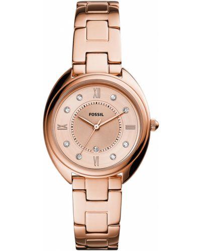 Różowy zegarek kwarcowy Fossil