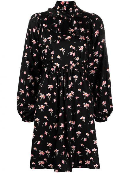 Czarna sukienka długa z długimi rękawami z wiskozy Bytimo