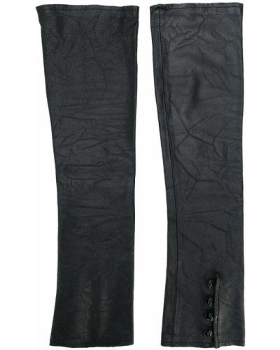 Черные перчатки без пальцев на пуговицах Olsthoorn Vanderwilt