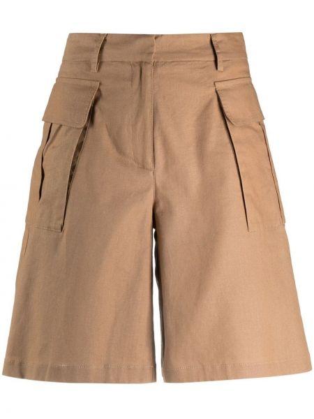 Льняные с завышенной талией шорты с карманами Ballantyne