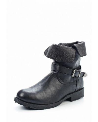Кожаные ботинки осенние черные Topway