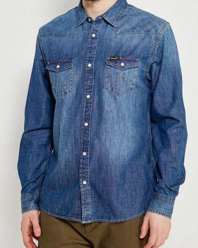 Синяя джинсовая рубашка Wrangler