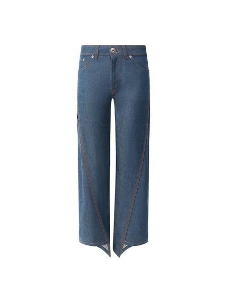 Прямые джинсы укороченные синие Lanvin