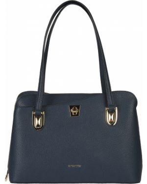 Кожаная сумка - синяя Cromia