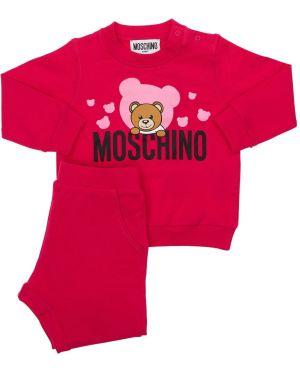Bluza z logo elastyczny Moschino