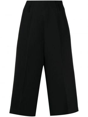 Czarne spodnie z wysokim stanem wełniane Christian Dior